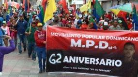 Los manifestantes recorrieron toda la calle El Conde. Foto José de León