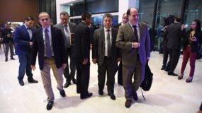 Llegada de la delegación de la oposición venezolana a la Cancillería dominicana  para negociaciones con el Gobierno de Venezuela.