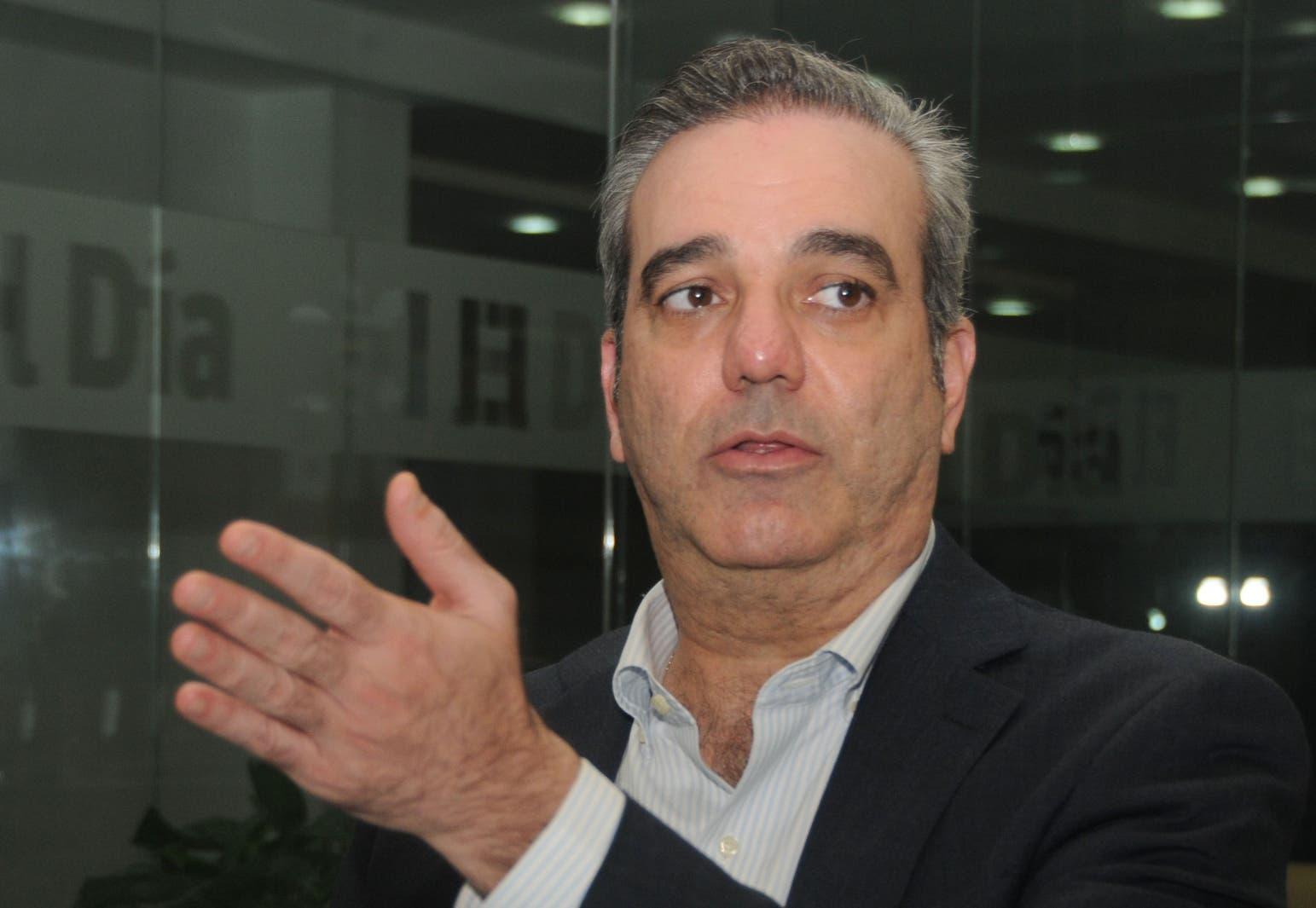 Luis Abinader dijo que las primarias sólo serán efectuadas en los partidos Revolucionario Moderno y el De la Liberación Dominicana.