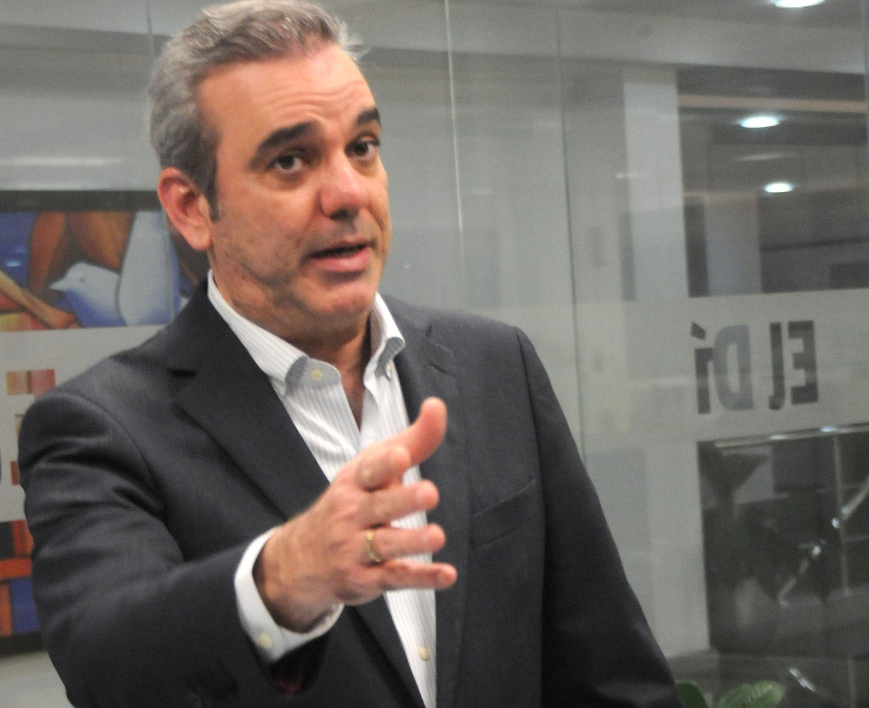 El dirigente Luis Abinader.