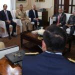 El presidente Medina reunido con mandos militares.  FUENTE EXTERNA.