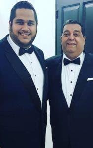 Juan Carlos Pichardo hijo y padre.  Archivo