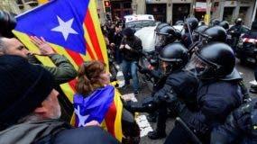 Los manifestantes fueron convocados por varias  organización independentistas .  AP
