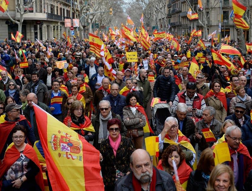 En Barcelona se levantan contra independentismo