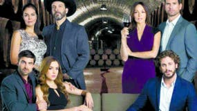 """Parte del elenco d ela telenovela """"Sangre de mi tierra""""."""