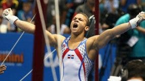 Audrys Nin Reyes,  destacado gimnasta criollo.  fuente externa