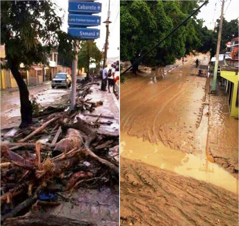Se inunda Puerta Plata por fuertes lluvias — Videos