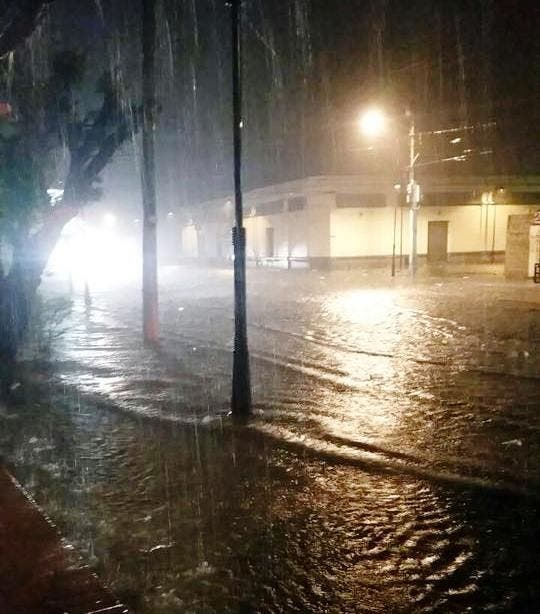 Uno de los sectores de Puerto Plata que resultaron inundados por las aguas.