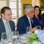 Canciller Miguel Vargas. También aparecen en la imagen, desde la izquierda,  viceministro Hugo Rivera, viceministra Marjorie Espinosa, y embajador Ramón Sánchez, jefe de Gabinete de la Cancillería.