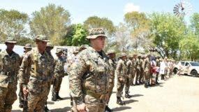A raíz de los incidentes en Pedernales del pasado lunes, el ministerio de Defensa anunció el envío de 900 soldados para reforzar la vigilancia en la frontera. Foto: @MDefensaRD
