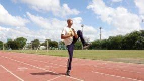 El mayor Daniel Santana Presinal en pleno entrenamiento.