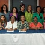 Parte de las voceras de la Coalición por los Derechos de la Mujer.