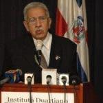 José Joaquín Pérez Saviñón, presidente del Instituto Duartiano.