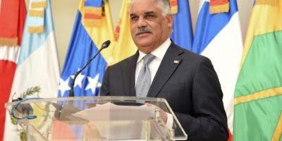 Miguel Vargas, canciller dominicano.