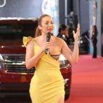 Miralba Ruiz, una de las presentadoras de la alfombra roja.