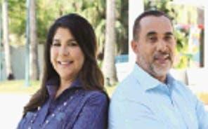Jeannette Marte y Gabino Peguero.