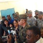 El mayor general Braulio Alcántara López, comandante Ejército dominicano se trasladó hasta Pedernales a controlar la situación.