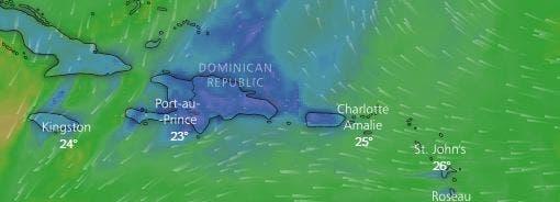 Onamet mantiene alerta meteorológica; pronostica aguaceros moderados a fuertes