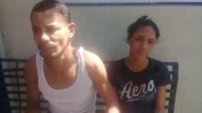 Cristian Leandro Tejeda y Ruth Miguelina Peña Pérez, la pareja acusada de atracar en equipo.