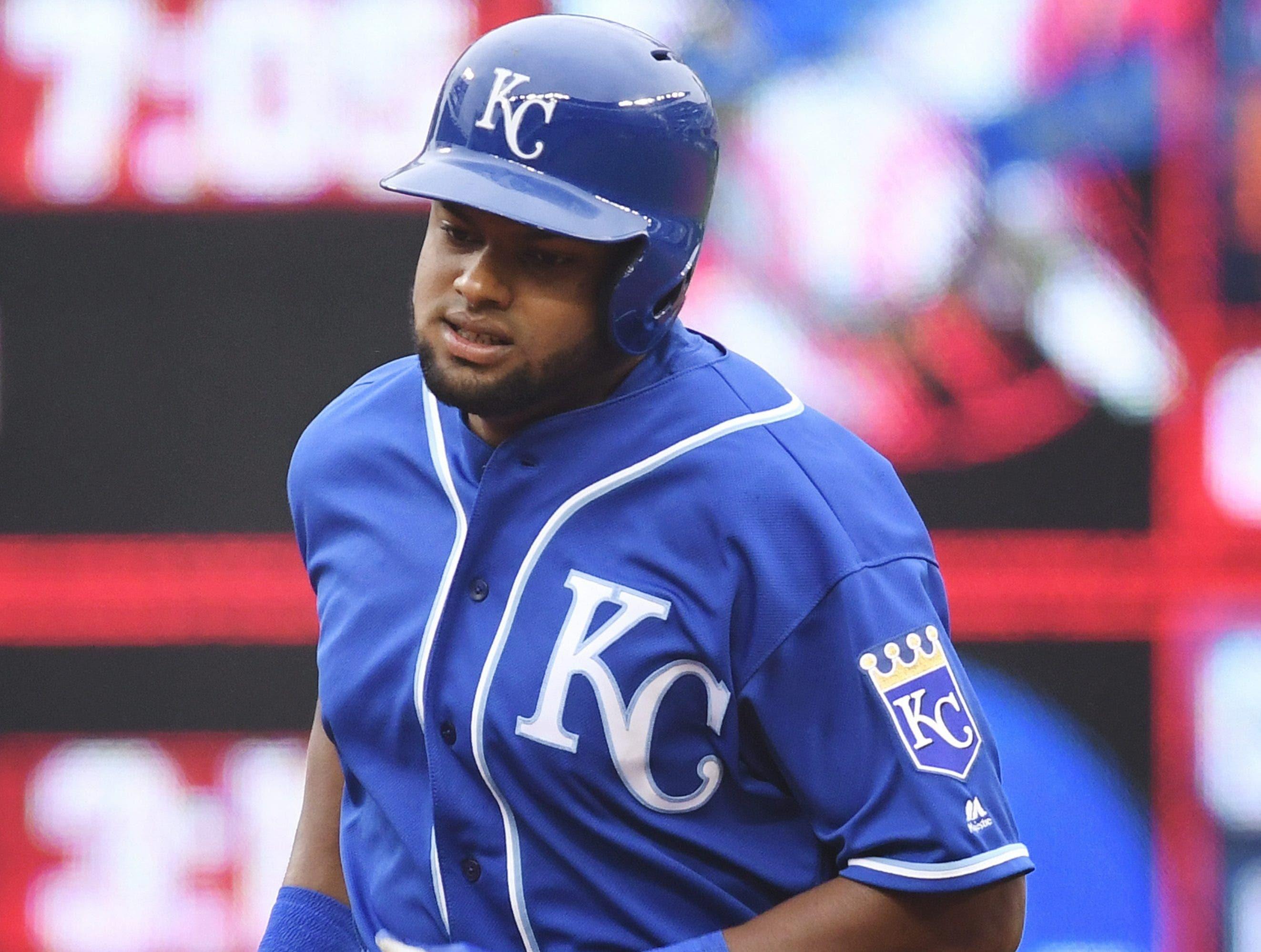 Jorge Bonifacio es un jugador joven que emerge con fuerzas en los Reales de Kansas City.  ap