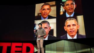 """En una conferencia TED, el ingeniero de Google Supasorn Suwajanakorn explicó cómo hicieron el video del """"falso Obama""""."""