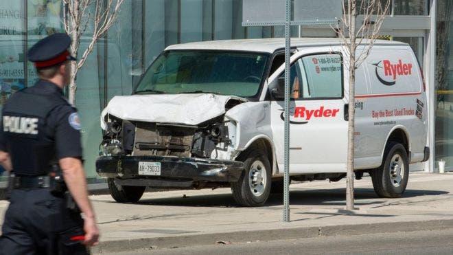 El conductor de la furgoneta fue arrestado.