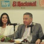 Wilfredo Mallén, Alexandra Ventura,  Juan Bolívar Díaz  y Rita Espaillat durante el Almuerzo del grupo Corripio.  Eliezer tapia