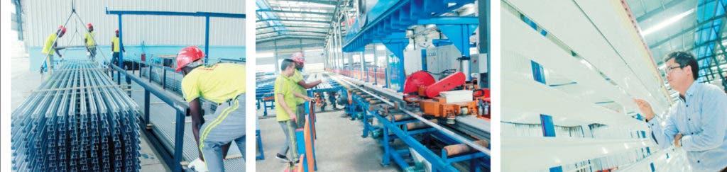 Kingtom busca convertirse en la empresa líder en producción y exportación de aluminio en la región del Caribe y colocar en mejor posición al país en este renglón. elieser tapia
