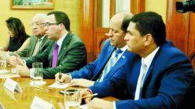 Autoridades  mexicanas y dominicanas en reunión.  fuente externa