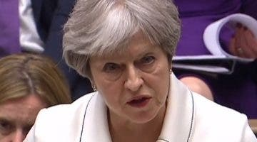 Theresa May defendió los   ataques a Siria