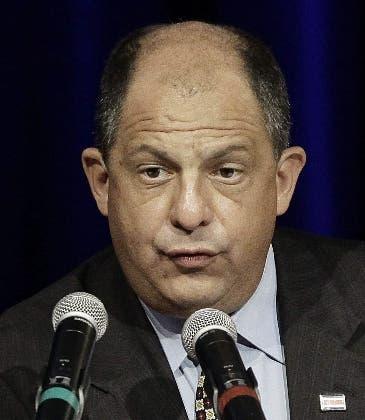 Luis Guillermo Solís, presidente de Costa Rica.EFE