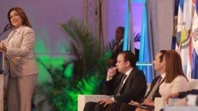 Margarita Cedeño de Fernández dijo que los gobiernos  deben generar riquezas y proteger a las personas. ELIESER TAPIA