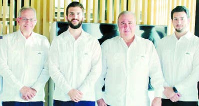 David Paiewonsky, Alan Paiewonsky, Miguel Paiewonsky y Andrés Mera.