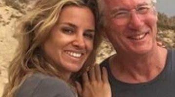 Richard Gere y su novia  Alejandra Silva.