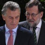Mauricio Macri recibió la visita de Mariano Rajoy. aP