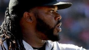 El dominicano Johnny Cueto sigue imbateable este año.  ap