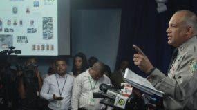 El coronel Frank Félix Durán, vocero de la Policía, ofrece detalles sobre detención.  elieser tapia