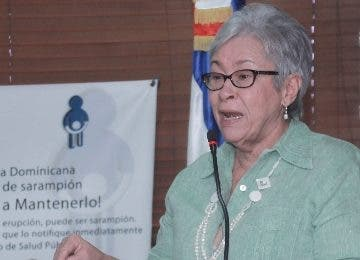Altagracia Guzmán, ministra de Salud.   Elieser Tapia