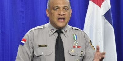 El vocero policial coronel Frank Félix Durán Mejía.