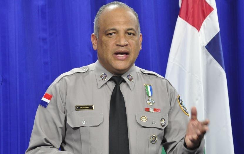 Frank Félix Durán, vocero de la Policía.