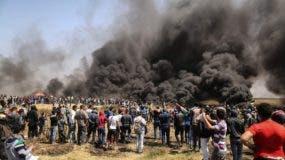 La protesta palestina, iniciada aquel 30 de marzo y que consiste en seis semanas de manifestaciones.