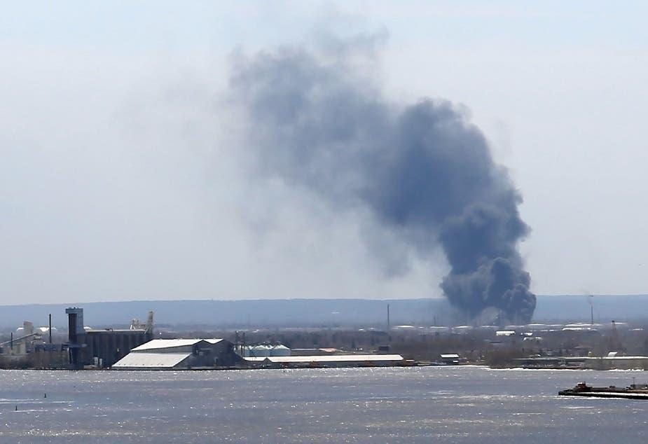 El incidente tuvo lugar alrededor de las 10h06 local (15h06 GMT) en la refinería de petróleo Husky Energy, en la ciudad de Superior.