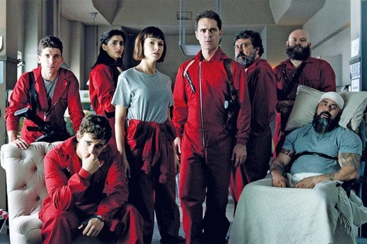 "Una escena de la  ""La Casa de Papel"". Netflix anunció hoy que el estreno de la tercera temporada será el 19 de julio."