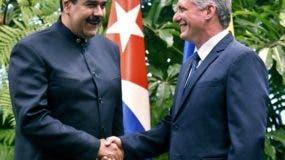 Maduro y Díaz-Canel. AP/archivo