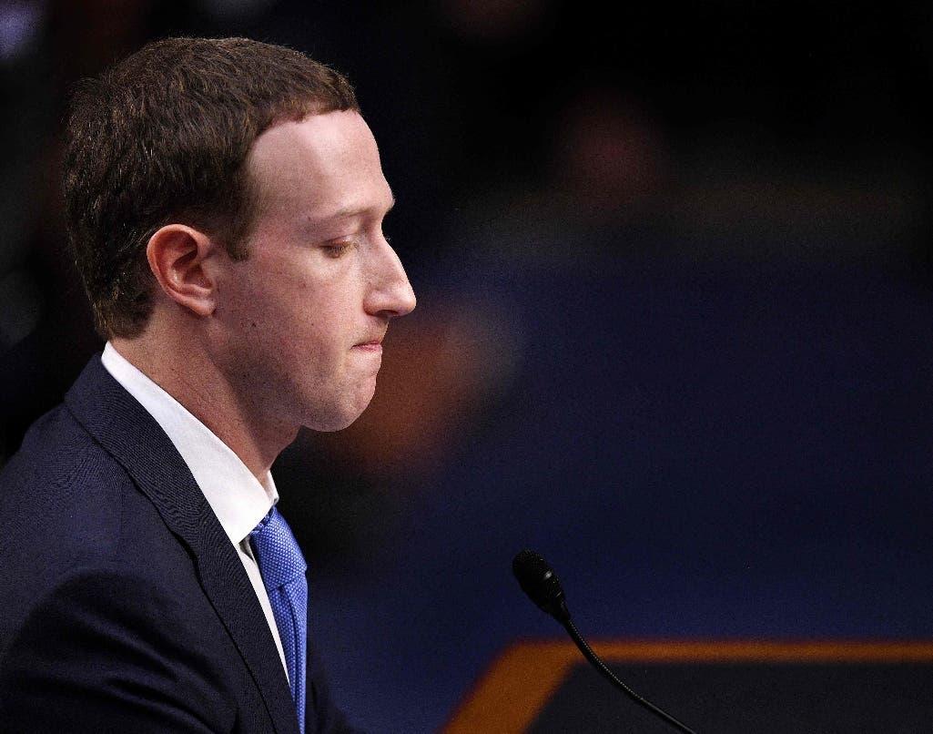 Mark Zuckerberg testifica ante una audiencia conjunta del Comité de Comercio, Ciencia y Transporte del Senado de los EE. UU. y el Comité Judicial del Senado en Capitol Hill. AFP