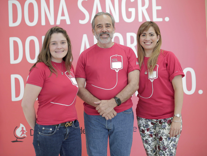 Priscilla Kelly León, Santiago Collado y Dania Ramírez.