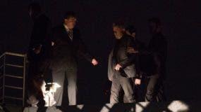 La llegada de Luiz Inacio Lula da Silva al departamento policial de Curitiba. AP