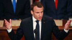 El presidente de Francia habló ante el Congreso de Estados Unidos.