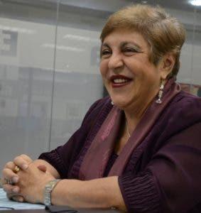 Invitada al coloquios del periódico El Día, señora Magaly Caram; directora ejecutiva de Profamilia/foto Jose de Leon