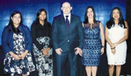 Claudia Monteiro, Mabel Gerónimo, Herbert Lewy,  Ana Patricia Mejía y Yoheli Joaquín.